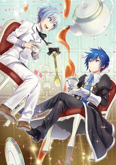 Mikuo and kaito Vocaloid Kaito, Kaito Shion, Manga Art, Anime Manga, Anime Art, Cute Anime Boy, Anime Guys, Blue Hair Anime Boy, Mikuo