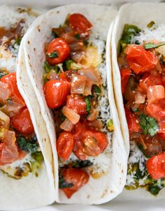 Crispy Brussels Sprouts Tacos with Manchego and Caramelized Shallot Salsa I howsweeteats.com