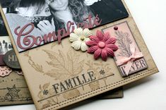 "Mini album ""Une famille en hiver"" ... - Le Scrap de Patmiaou Mini Album Scrapbook, Mini Albums Scrap, Scrapbooking, Book Making, Mini Books, Christmas Crafts, Mini Mini, Creative, Cards"
