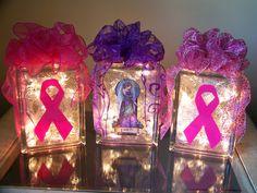 Cancer ribbon light or Faith Angel