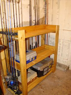 First wood project completed with my husband. His new fishing pole rack.