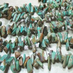 """Blue Green Turquoise 1.5x5mm-8-13mm Top-Drilled Nugget Chip Stone Beads 16"""" Strand Natural Color Jewelry Designing Crafts DIY Southwest by Multibeadia on Etsy"""