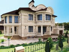 Luxury Homes Mansions & High End immobilier . New Modern House, Modern Mansion, Modern House Design, Villa Plan, Dream House Exterior, Dream House Plans, Style At Home, Mansion Designs, House Front Design