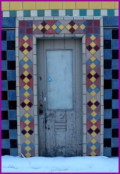 art tile door, Anchorage, Alaska