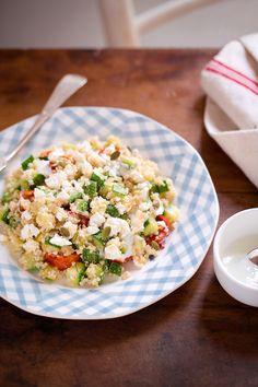 menta e liquirizia: Insalata di Quinoa con Zucchine, Pomodorini e Condimento allo Yogurt