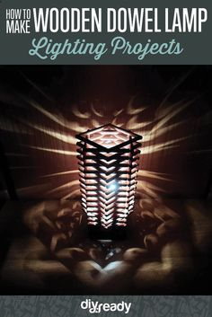 How to Make a Wooden Dowel Lamp by DIY Ready at http://diyready.com/how-to-make-a-wooden-dowel-lamp/
