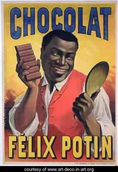 Poster advertising chocolate made by Felix Potin 1900