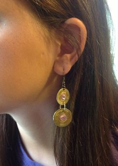 12 gage & 20 gage brass shotgun shell earrings by JollysJewelry, $25.00