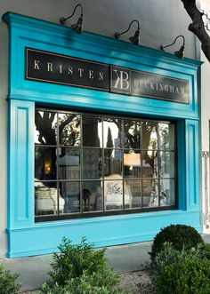 Kristen Buckingham, a shop in Los Angeles - love the turquoise!