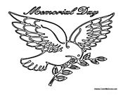 memorial day coloring pages | Memorial Day Dove