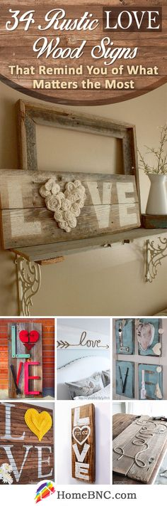 Rustic Love Wood Sign Ideas