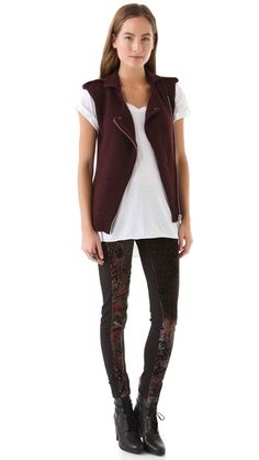 April, May Vernon Velvet Printed Pants and Ned New England vest (vest already sold out!)