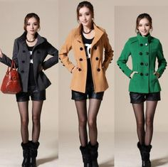 Find More Information about new 2015 autumn winter plus size M XXL double breasted woolen outerwear slim short wool peacoats women coat casacos femininos,High Quality ,China Suppliers, Cheap from H-O-M FASHION STORE on Aliexpress.com