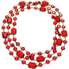vintage Chanel poured glass maison gripoix necklace