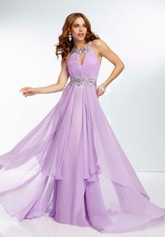 Custom Made Fancy Floor Length Chiffon Red 2015 Prom Dresses with Crystals@2.jpg (600×862)