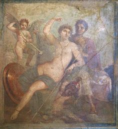 Fresco of Ares and Aphrodite from Pompeii, now in the National Archaeological Museum in Naples.