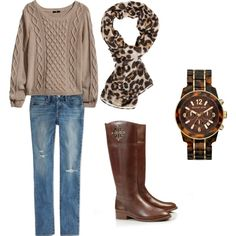 """comfy fall outfit!"" by haleyhansli on Polyvore"