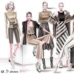 Şahver Orhan with ・・・ Design by Veronika Ahmatova Fashion Model Sketch, Fashion Design Sketchbook, Fashion Design Drawings, Fashion Sketches, Fashion Office, Student Fashion, Fashion Illustration Dresses, Fashion Drawing Dresses, Arte Fashion