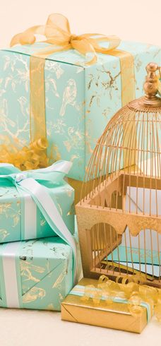 The Gift Wrap Company Wholesale Wedding Golden Branches Gift Wrap