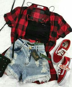 Teen fashion, You can collect images you discovered organize them, add your own ideas to your collections and share with other people. Edgy Outfits, Teen Fashion Outfits, Mode Outfits, Grunge Outfits, Cute Casual Outfits, Outfits For Teens, Fall Outfits, Plaid Outfits, Fashion Women