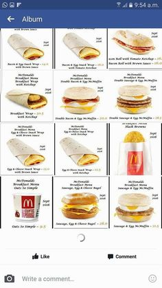 Slimming World Eating Out, Slimming World Syns List, Slimming World Treats, Easy Slimming World Recipes, Mcdonalds Breakfast, Slimmimg World, Breakfast Wraps, Secret Menu, Syn Free