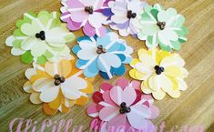 DIY Spring Flowers from Paint Chips | upper sturt general store