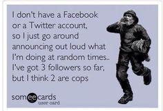 Quirky social media funnies.