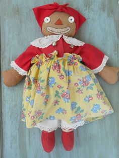 Beloved Belindy Vintage Collectable Doll Raggedy Ann Mammy Doll and story book