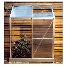 small homemade greenhouse.