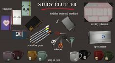 Leo Sims - Study clutter for The Sims 4