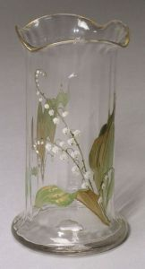Verona Glass Vase with Lily of the Valley Floral