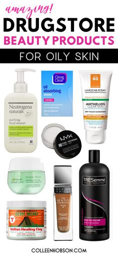 Looking for affordable skincare and makeup that help control oiliness? Here are the best drugstore beauty products that work wonders for oily skin. #drugstore #skincare #products #oilyskin Beauty Products For Oily Skin, Best Drugstore Products, Beauty Products That Work, Drugstore Skincare, Drugstore Makeup Dupes, Skin Products, Beauty Skin, Sensitive Skin Care, Anti Aging Skin Care