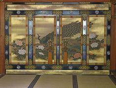Ninna-ji Palace Peacock Screen #japan #kyoto
