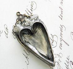 Empty heart bezel. | Shabby Cottage Adorned on Etsy