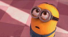 bewildered, then smiling, then mesmerized, & then maybe in love – Minion from Despicable Me