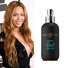 Beyonce Knowles The only thing better than perfect makeup is long layers of beachy waves. Spritz a sea-salt spray into hair, tie it in a bun and leave it up overnight for the perfect tousled result. Surf Spray, Bumble and Bumble $27
