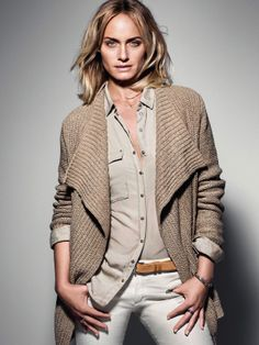 The Marc O´Polo Spring/Summer 2014 Campaign: represented by actress and supermodel Amber Valletta Amber Valletta, Polo Fashion, Fashion Models, Womens Fashion, Women's Casual Looks, New Outfits, Cool Outfits, Polo Cardigan, Sweater