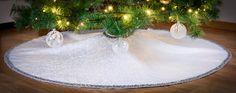 Christmas Holiday Tree Skirt Custom Made by KakaduDesign on Etsy Holiday Tree, Christmas Holidays, Christmas Tree, Holiday Decor, Damask, Custom Made, Skirts, Fabric, Etsy