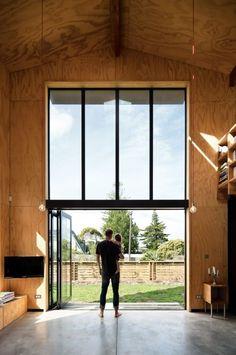 Baies vitrées avec système d'ouverture en accordéon  http://www.homelisty.com/idees-baie-vitree/