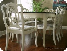 French Provincial Table Set Makeover - Would <3 this set for my diningroom! Beautiful!! SHB