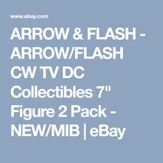 "ARROW & FLASH - ARROW/FLASH CW TV DC Collectibles 7"" Figure 2 Pack - NEW/MIB 