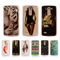Coque For LG G3S G3mini G3 Beat D722 Case Tiger Retro Painted Case Vintage Lion Soft Plastic Cover TPU Capa Para Phone Case #clothing,#shoes,#jewelry,#women,#men,#hats,#watches,#belts,#fashion,#style