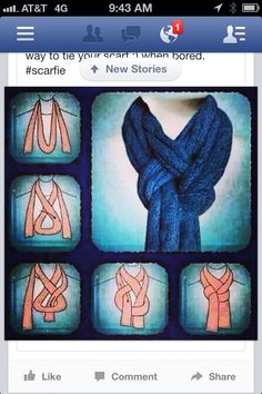 Cool way to tie a scarf