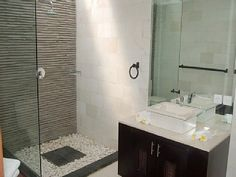 metallic bathroom tile idea ensuite in the hotondo homes