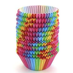 Zicome Standard Size Rainbow Cupcake Paper, Baking Cup, 300 Pcs Cup Liners, Great for cupcakes, desserts, hot and cold appetizers, and candies  - http://kitchen-dining.bestselleroutlet.net/product-review-for-zicome-standard-size-rainbow-cupcake-paper-baking-cup-300-pcs-cup-liners/
