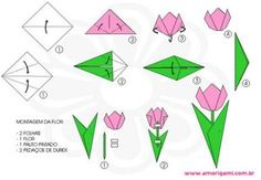 ideas origami passo a passo flores - Origami Tulip Origami, Design Origami, Instruções Origami, Origami Paper Folding, Origami Star Box, Origami Ball, Useful Origami, Origami Instructions, Origami Tutorial