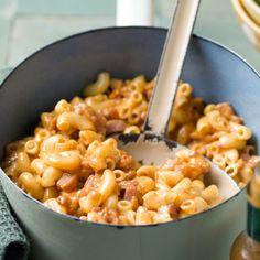 Mac and Bacon I Love Food, Good Food, Pasta Recipes, Dinner Recipes, Healthy Recepies, Food Porn, Weird Food, Comfort Food, Happy Foods