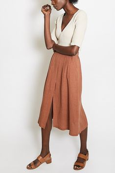First Rite Pleated Skirt / Clay Spring Summer Fashion, Spring Outfits, Tweed Dress, Pleated Skirt, Dress To Impress, Style Inspiration, Fashion Outfits, Clothes For Women, My Style