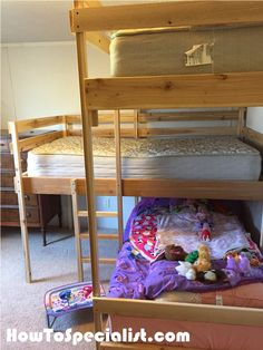 Advice, tricks, and guide when it comes to receiving the most effective outcome and also creating the maximum utilization of bunk bed for small rooms House Bunk Bed, Bunk Bed Ladder, Loft Bunk Beds, Bunk Beds With Stairs, Kids Bunk Beds, Bunk Beds For Girls Room, Beds For Small Rooms, Small Loft Apartments, Bunk Bed Mattress