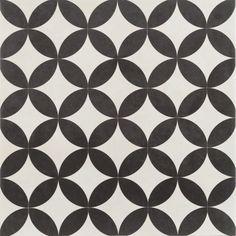 Bertie Black & White Feature Floor Tiles 33x33cm in Home, Furniture & DIY, DIY Materials, Flooring & Tiles | eBay